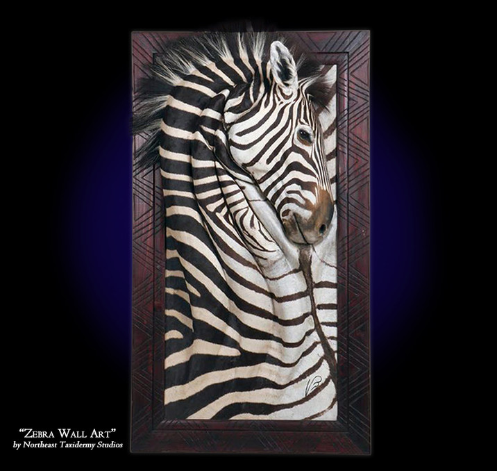 Zebra Wall Art Mounts