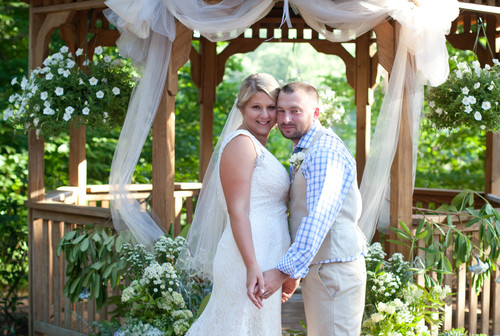 Ashley and Jame's summer wedding at The Pavilion on Crystal Lake on July 5, 2014.
