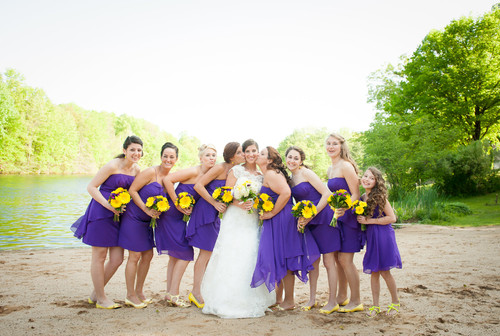Alyssa and Josh's spring wedding at The Pavilion on Crystal Lake on May 25, 2014.