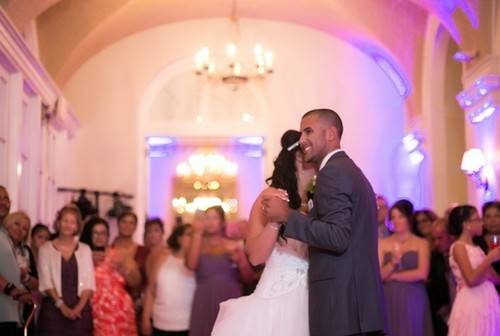 Maria and Chris's summer wedding at The Wadsworth Mansion on August 2, 2014.