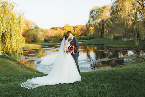 Rebecca & Adam's autumn reception at the Barns at Wesleyan Hills on October 17, 2014