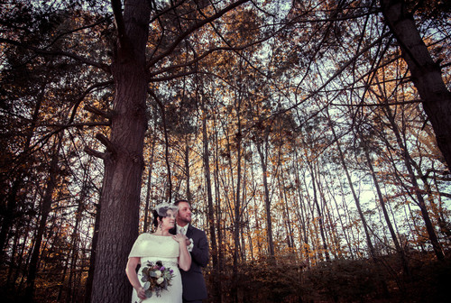Nikki & Steve's autumn wedding at The Pavilion on Crystal Lake on November 8, 2014.