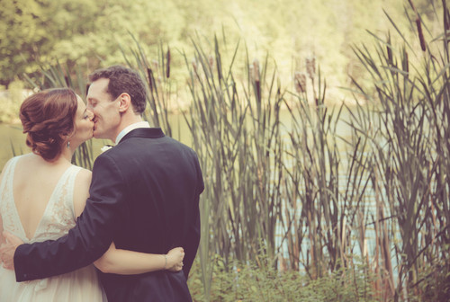 Jackie & Nick's summer wedding at The Pavilion on Crystal Lake in July 2015.