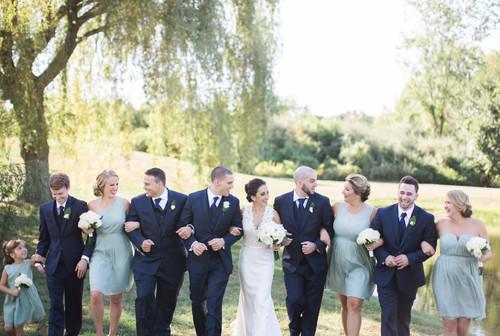 Mia & Devon's autumn wedding at The Barns at Wesleyan Hills.
