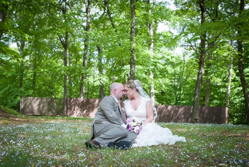 Ashley &  Tim's spring wedding at the Pavilion on Crystal Lake on May 17, 2015.