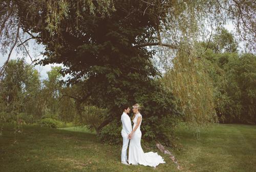 Ashley & Sam's summer wedding at The Barns at Wesleyan Hills on August 22, 2014.