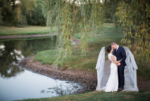 Mia & Devon's autumn wedding at The Barns at Wesleyan Hills.