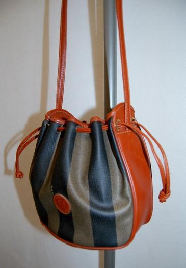 e5f89eb84d ... italy fendi vintage penguin stripe mini bucket bag 44cfb 73b06