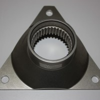 Machined titanium component.