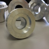Wire EDM machining of internal spline.