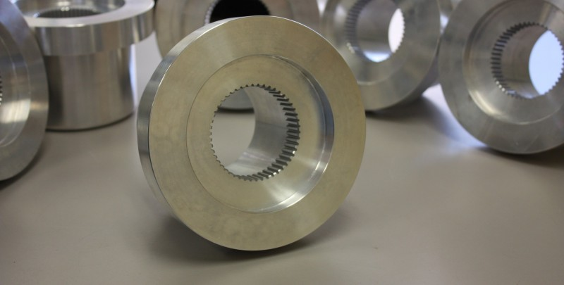 Precision Wire EDM Machining Wire EDM machining of internal spline.