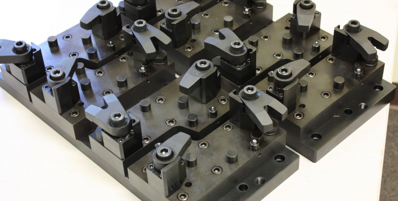 Fixtures and Tooling Work holding fixture for 2-axis milling operation.