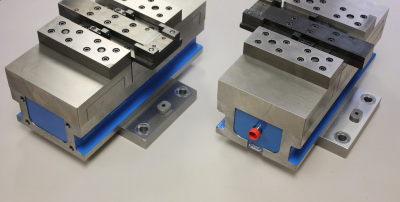 Fixtures and Tooling Modified vice for specific part holding.