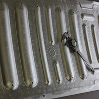 Resistance spot welded aluminum panel