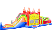 53' Candy Land Obstacle  Course Combo Bounce House Waterslide WET or DRY, Obstacle Courses & Interactive Games - Jacksonville Florida Bounce House Rentals