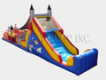52' Rocket  Double Lane Obstacle Course Bounce House Waterslide WET or DRY