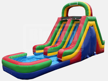 Adrenaline Rush Double Lane Slide  19' Bounce House Waterslide WET or DRY, Roo's Wet or Dry Slides - Jacksonville Florida Bounce House Rentals