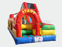 Carnival Course Challenge Bounce House Slide, Obstacle Courses & Interactive Games - Jacksonville Florida Bounce House Rentals