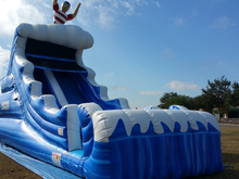 Tsunami Slide  22'  Bounce House Waterslide WET or DRY, Roo's Wet or Dry Slides - Jacksonville Florida Bounce House Rentals
