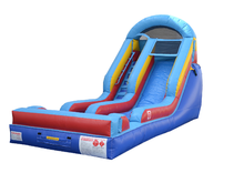 Blue Crush 14' Slide (Wet or Dry), Roo's Wet or Dry Slides - Jacksonville Florida Bounce House Rentals