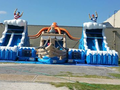 Treasure Island Interactive Park  22' and 20'  Bounce House Waterslide WET or DRY