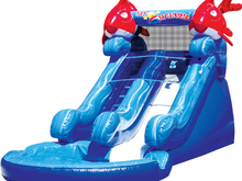 Lil Kahuna Slide 14' Bounce House Water Slide WET or DRY, Roo's Wet or Dry Slides - Jacksonville Florida Bounce House Rentals