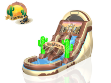 Western Theme Slide 19' Bounce House Waterslide WET or DRY, Roo's Wet or Dry Slides - Jacksonville Florida Bounce House Rentals