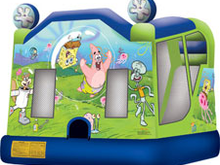 Sponge Bob Square Pants 4-1 Combo Bounce House Hopper WATER SLIDE or DRY SLIDE, Roo's Hopper Combos - Jacksonville Florida Bounce House Rentals