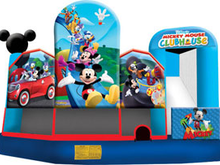 Mickey Mouse Club House 5-1 3D ComboBounce House Hopper WET or DRY, Roo's Hopper Combos - Jacksonville Florida Bounce House Rentals