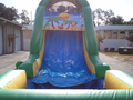 60' Tropical Island Double Lane Obstacle Course Bounce House Waterslide WET or DRY