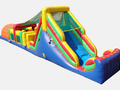 52' Rainbow Double Lane Obstacle Course Bounce House Waterslide WET or DRY