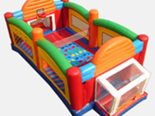 40' Ultimate Sports Arena Bounce House Hopper, Obstacle Courses & Interactive Games - Jacksonville Florida Bounce House Rentals