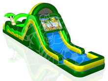 60' Tropical Island Double Lane Obstacle Course Bounce House Waterslide WET or DRY, Roo's Wet or Dry Slides - Jacksonville Florida Bounce House Rentals