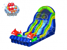 Rajun Cajun Slide  19' Bounce House Waterslide WET or DRY, Roo's Wet or Dry Slides - Jacksonville Florida Bounce House Rentals