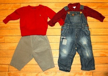 Here are a couple of outfits perfect for little man's first Valentine's Day.