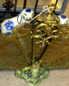 Antique Brass Dragon Firelplace Screen