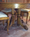 Tiger Oak Chippendale Style Dining Table and Chairs