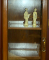 Wood Curio with top light
