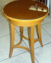 Maple Accent table with Glass Top