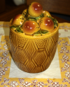 Ceramic Covered Apple Jar
