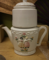 Antique Porcelain Tea Pot with infuser section