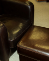 Ultra Comfortable leather chair and ottoman