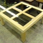 1-12976 Coffee Table with Glass Top