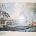 "3913-4 John Stobart ""Rare"" 'Monongahela Waterfront ' Signed Print"