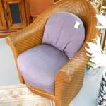 1-17933 Henredon Circa East Rattan Chair Now 50% Off