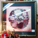 Signed Framed and Matted Glynda Turly Floral Wreath Print