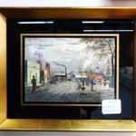 Wunderly Galleries Colored Etching of Street Scene