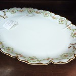 Antique Haviland Linoges Platter with Rose Wreaths