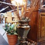 Floor Plant in Haeger Bronze Vase