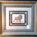 1-8234 Matted and Framed Lion Print
